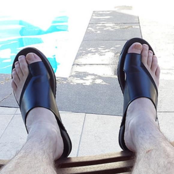 Tsubo Shoes | Tsubo Mens Toe Loop Black